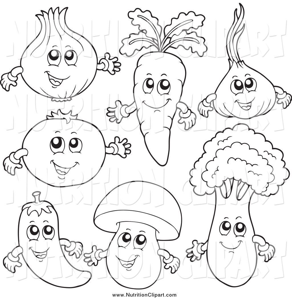 Fruit And Vegetable Clipart Black And White 20 Free