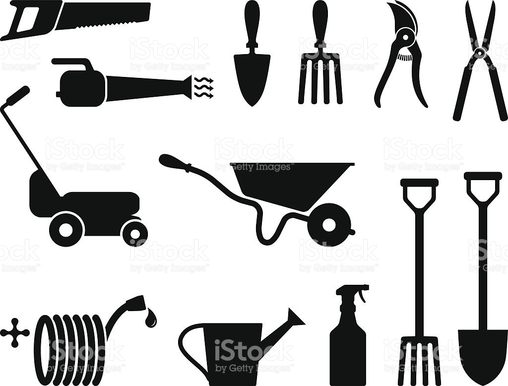 Garden Tools Clipart Black And White 20 Free Cliparts