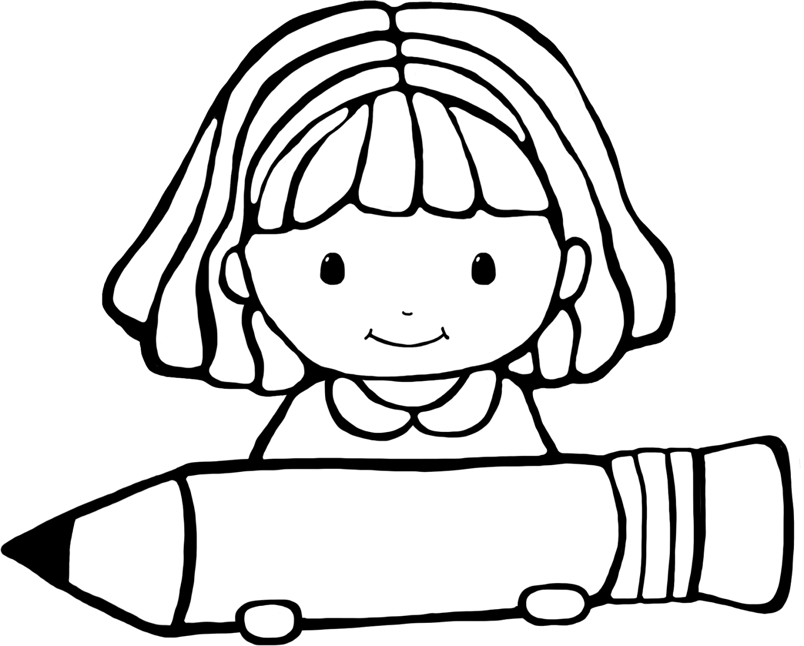 Girl And Boy Writing Clipart
