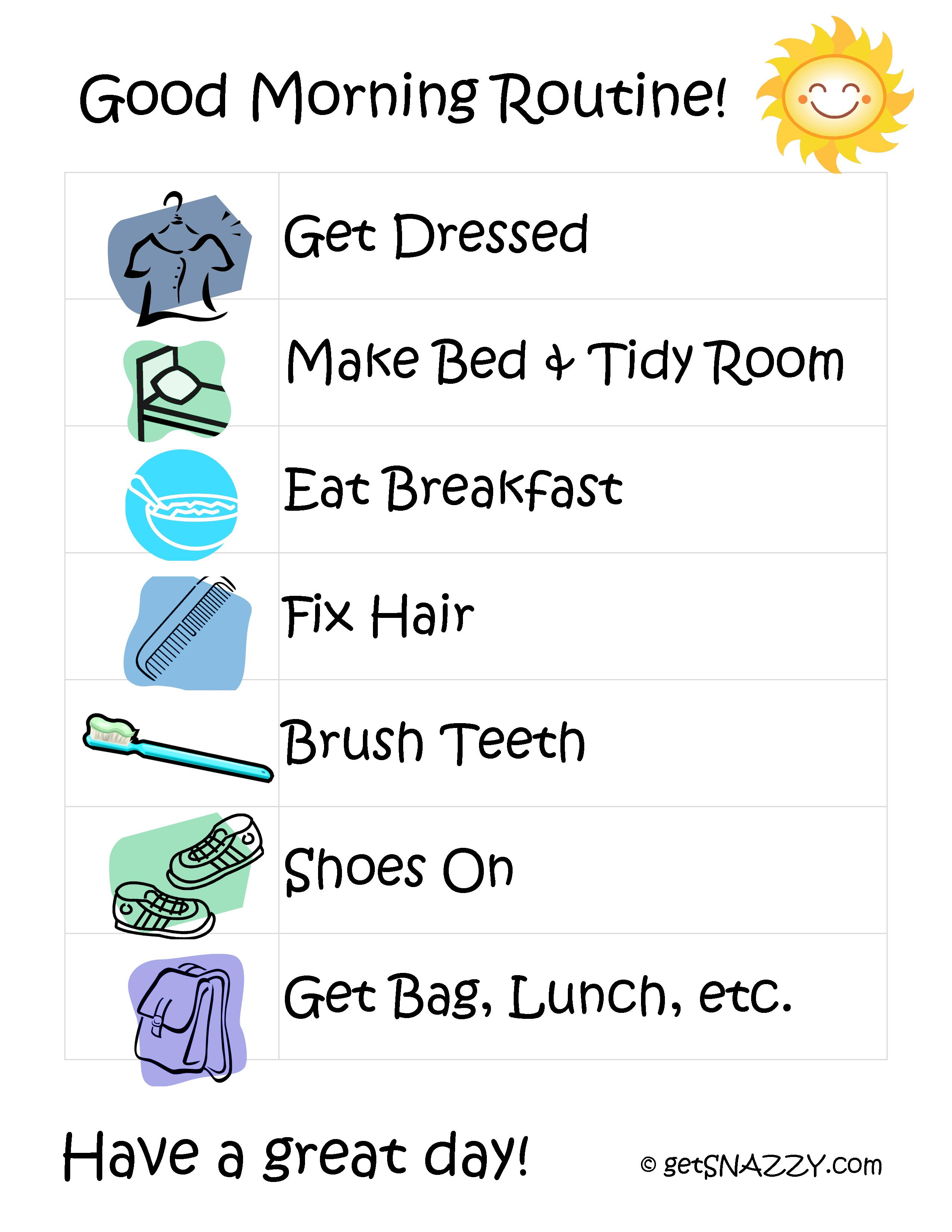 Girl Arrange Things At Home After School Clipart