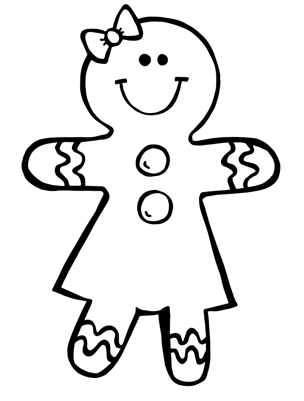 Girl Christmas Clipart Black And White