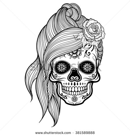 Girly Sugar Skull Clipart Clipground