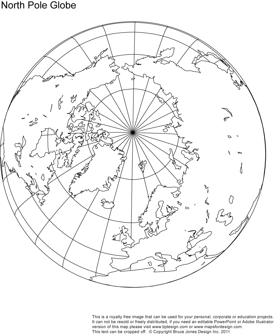 Globe North America Outline Clipart