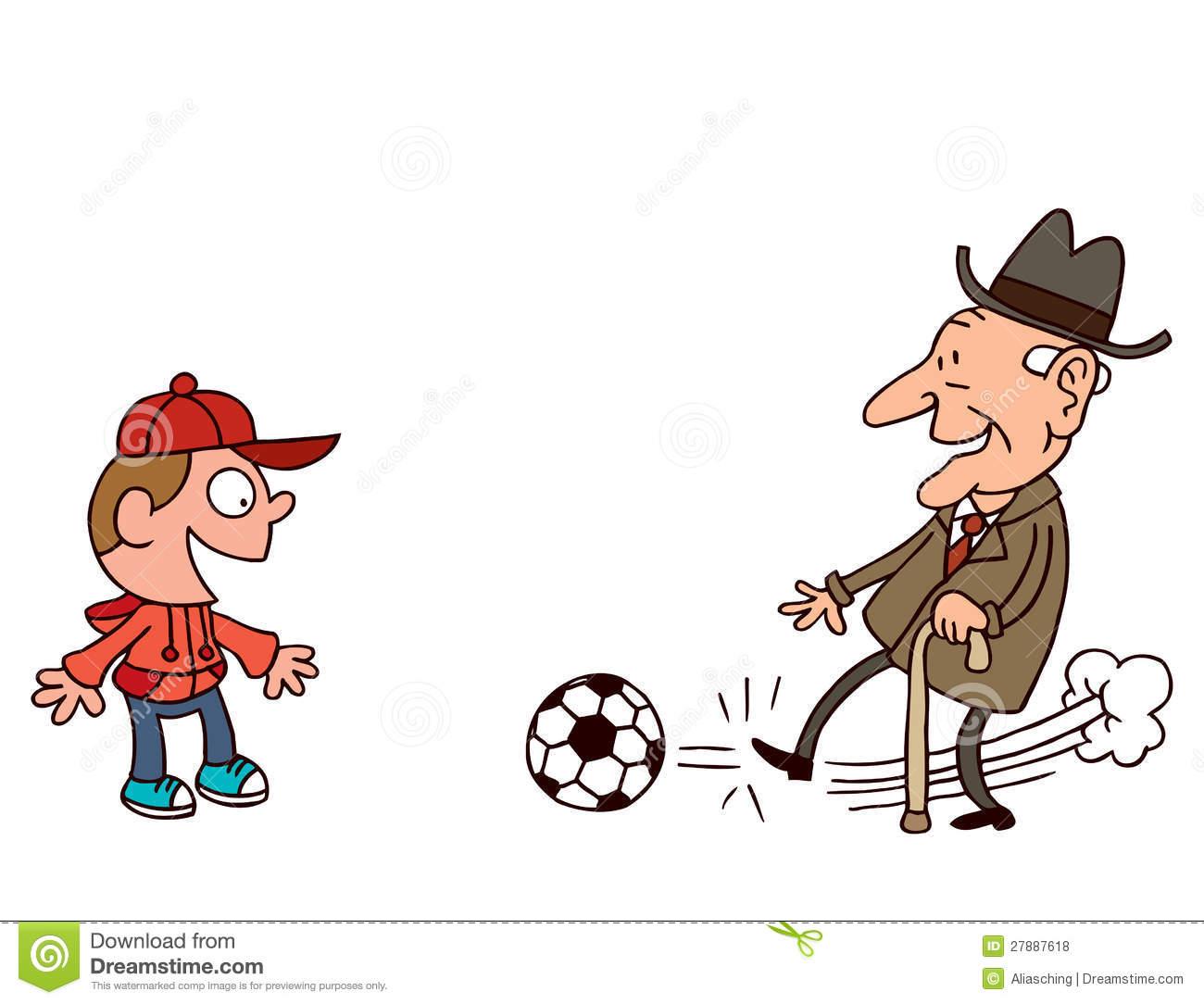 Grandpa And Grandson Clipart
