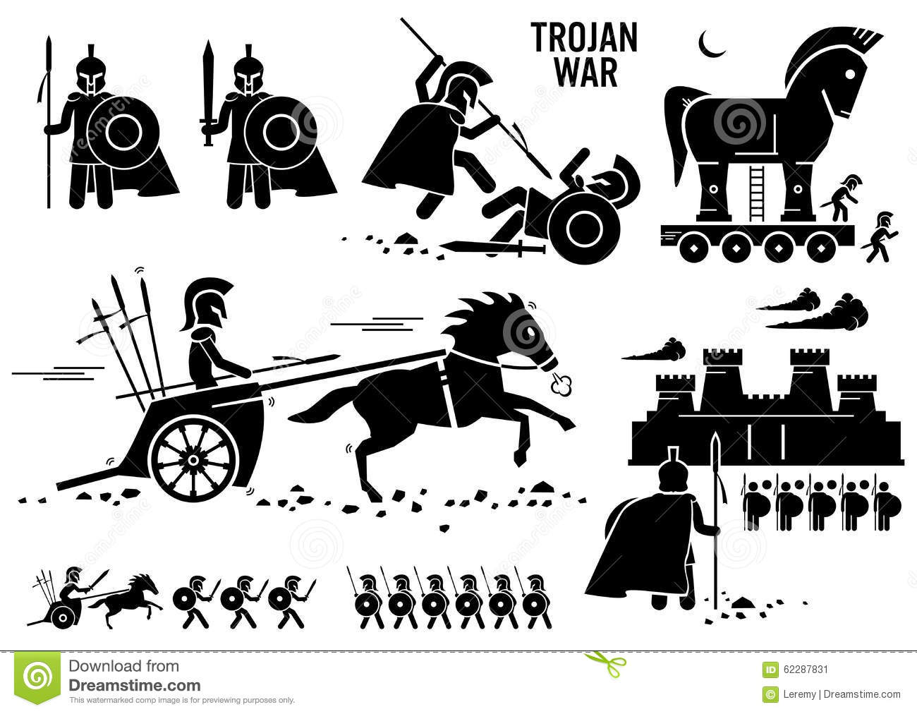 Spartan And Chariot Clipart