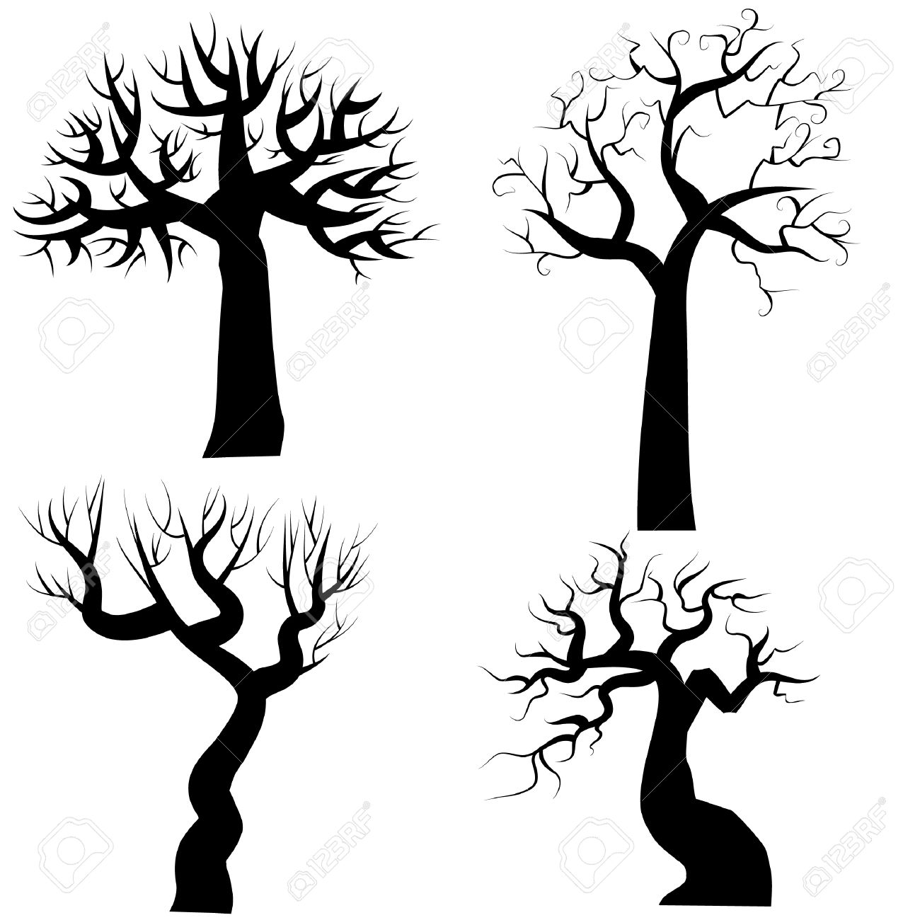 Halloween Tree Silhouette Clipart 20 Free Cliparts