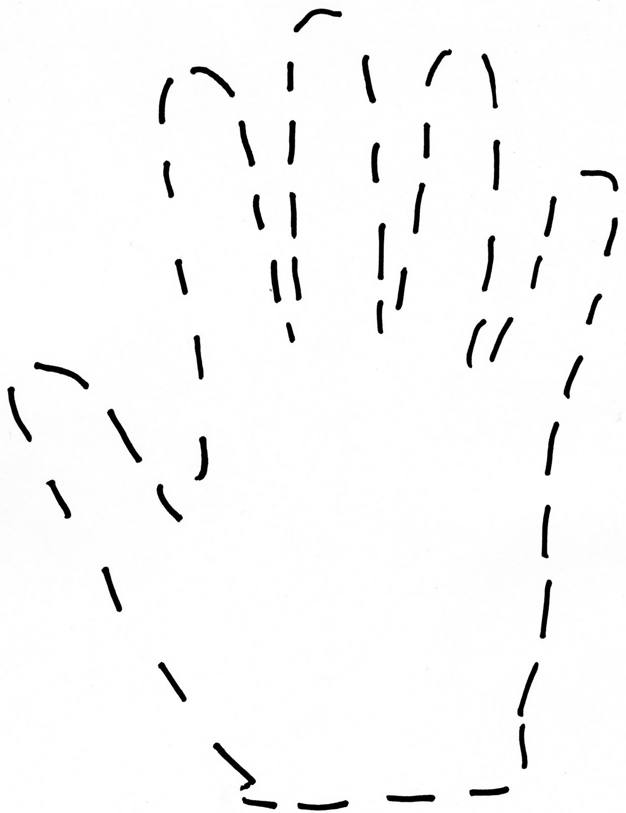 Hand Clipart Outline 20 Free Cliparts