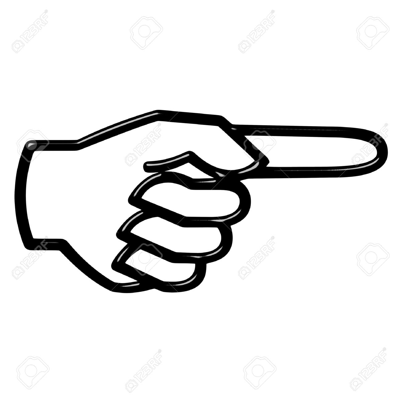 Hand Pointing Clipart