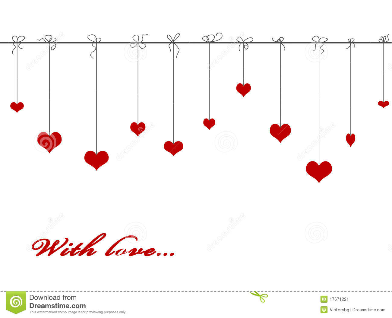 Hanging Heart Clipart Clipground