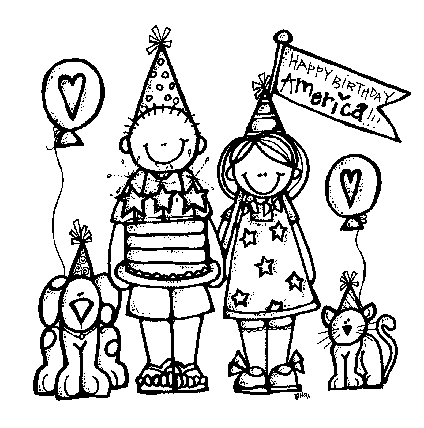 Happy Birthday Clipart Free Black And White 20 Free