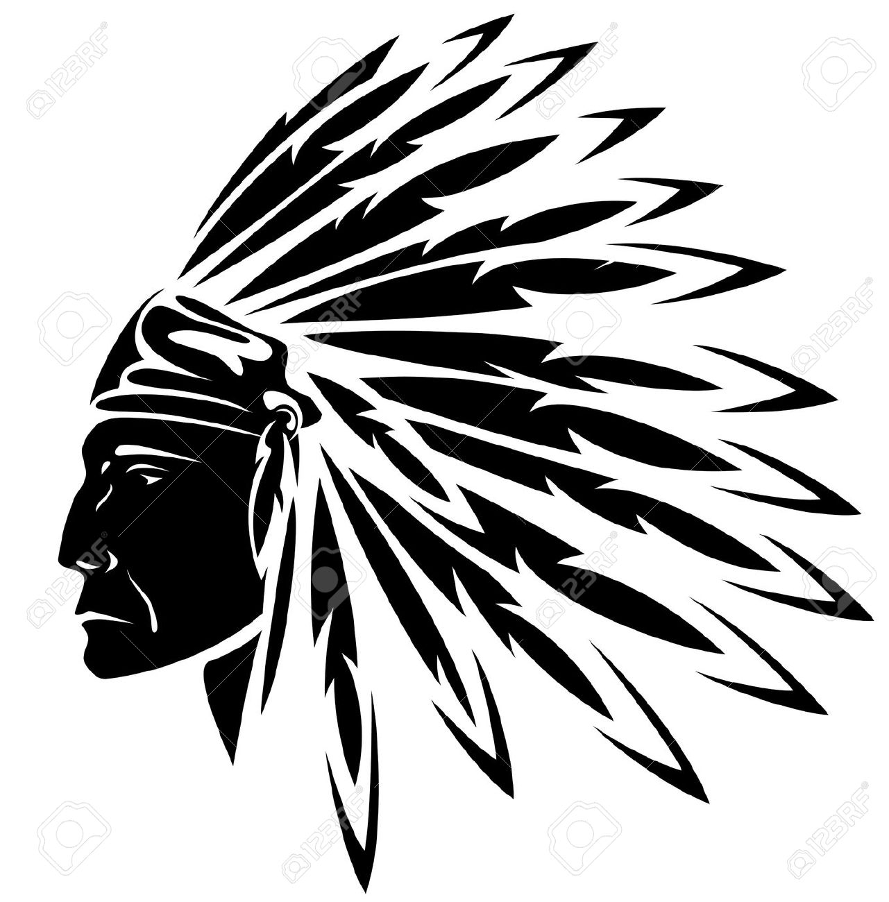 Indian Chief Headdress Clipart