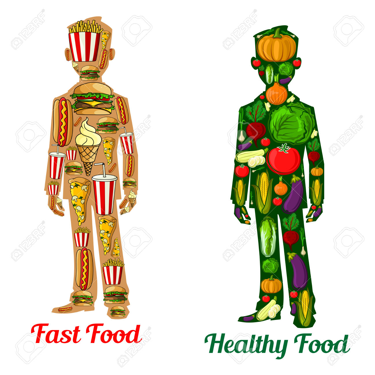 Healthy And Unhealthy Person Clipart 20 Free Cliparts