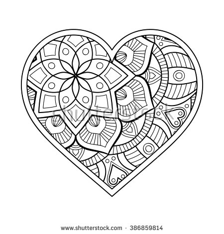 Heart Mandala Clipart Clipground