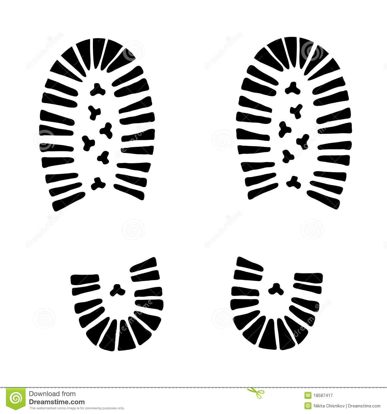Hiking Boot Footprint Clipart