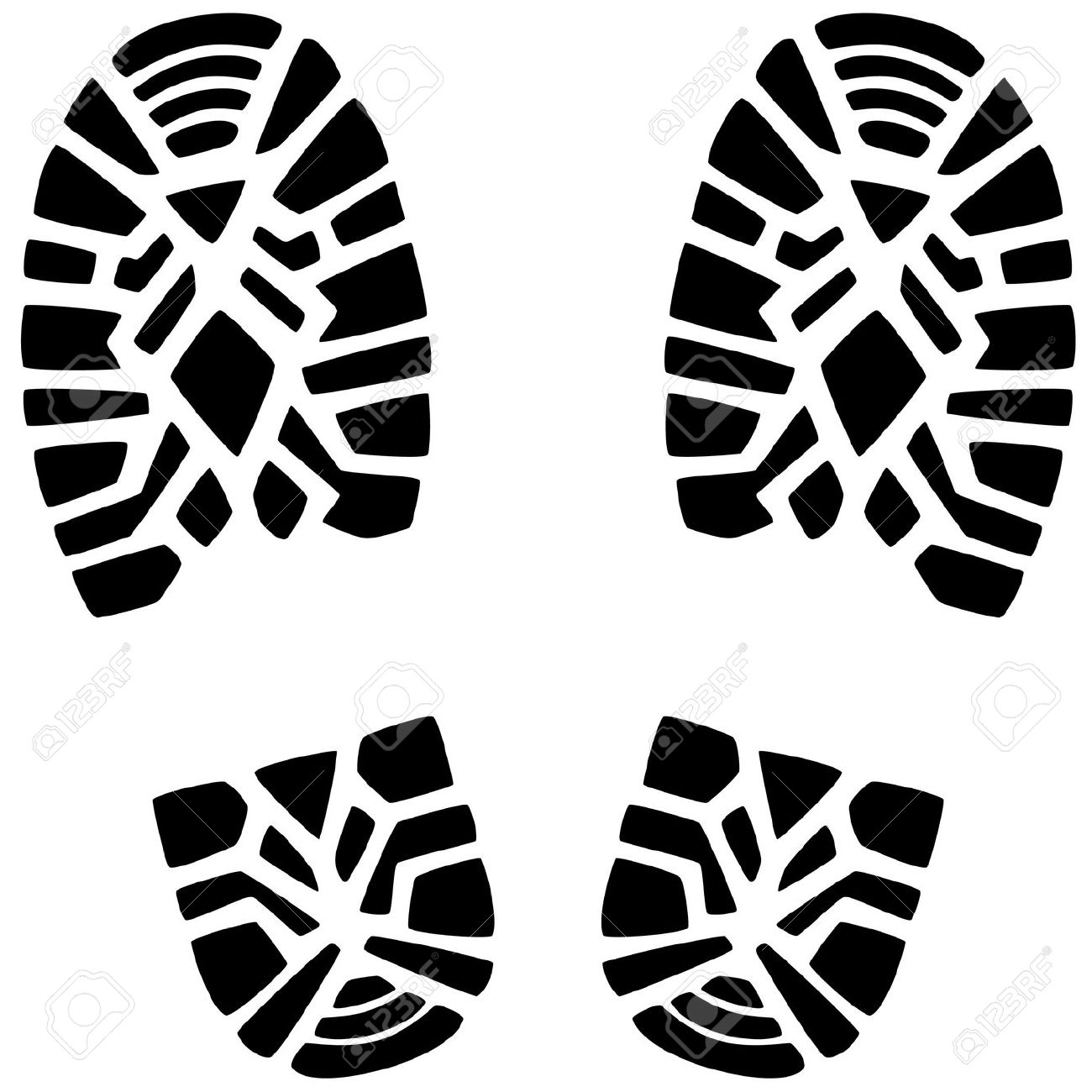 Hiking Boot Footprint Clipart