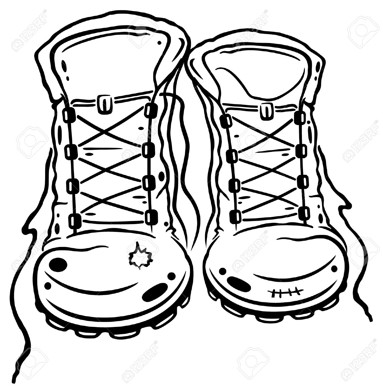 Hiking Shoes Clipart