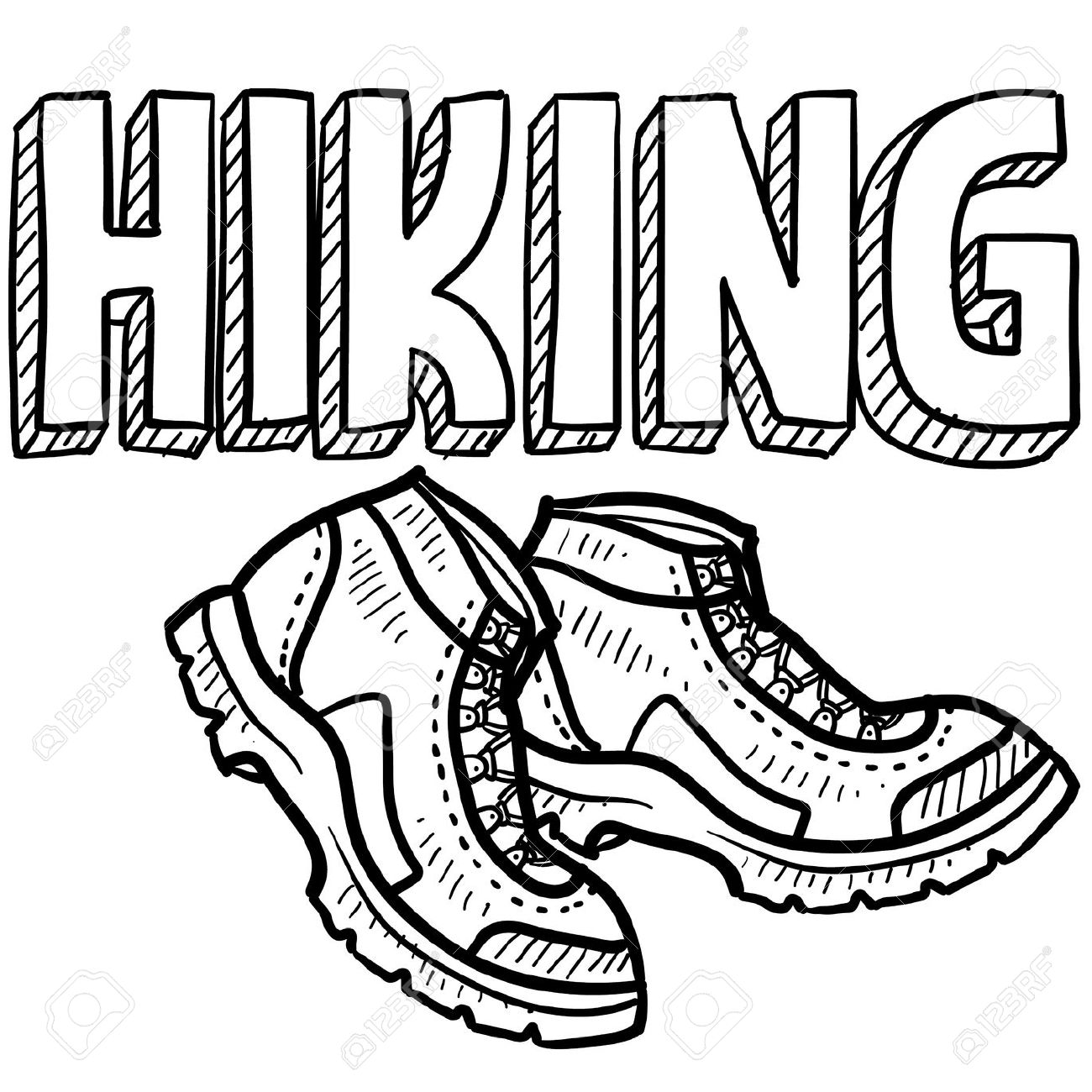 Mountaineering Shoes Clipart