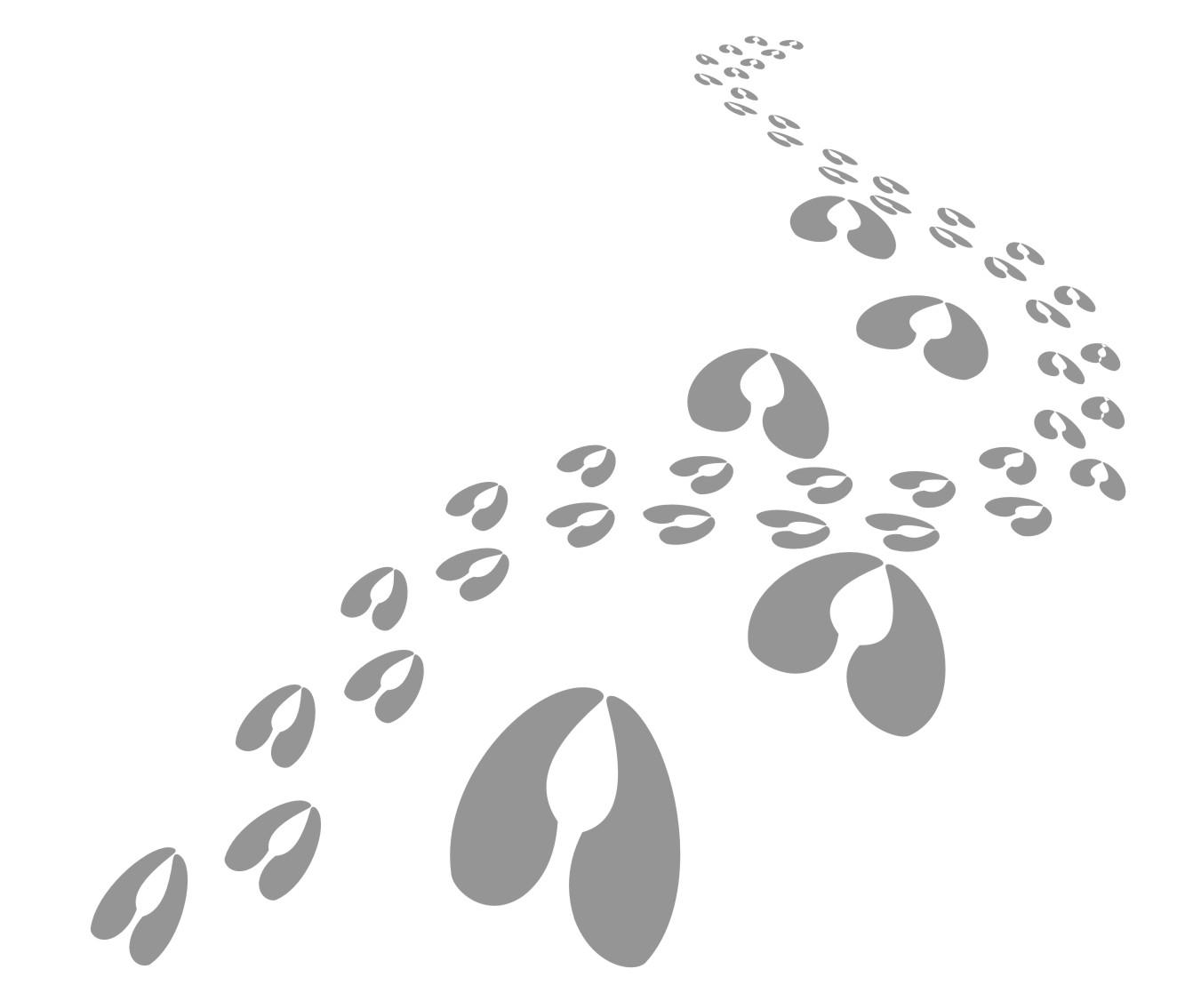 Hoofprints Clipart
