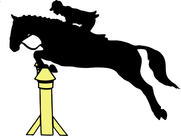 horse on jockey silhouette clipart png Clipground