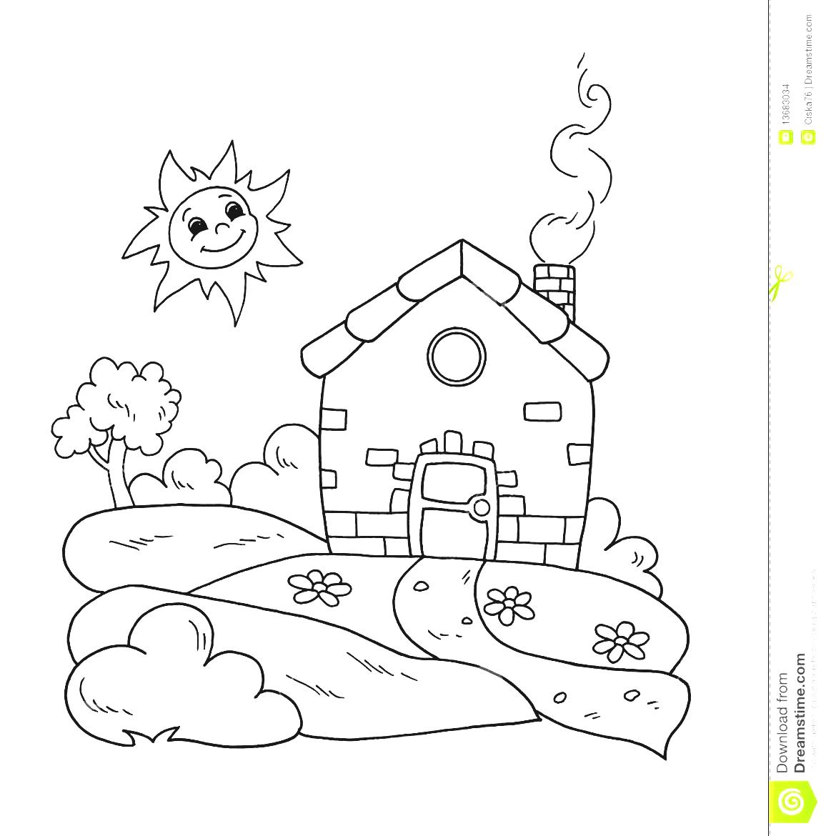 House With Garden Clipart Black And White 20 Free Cliparts