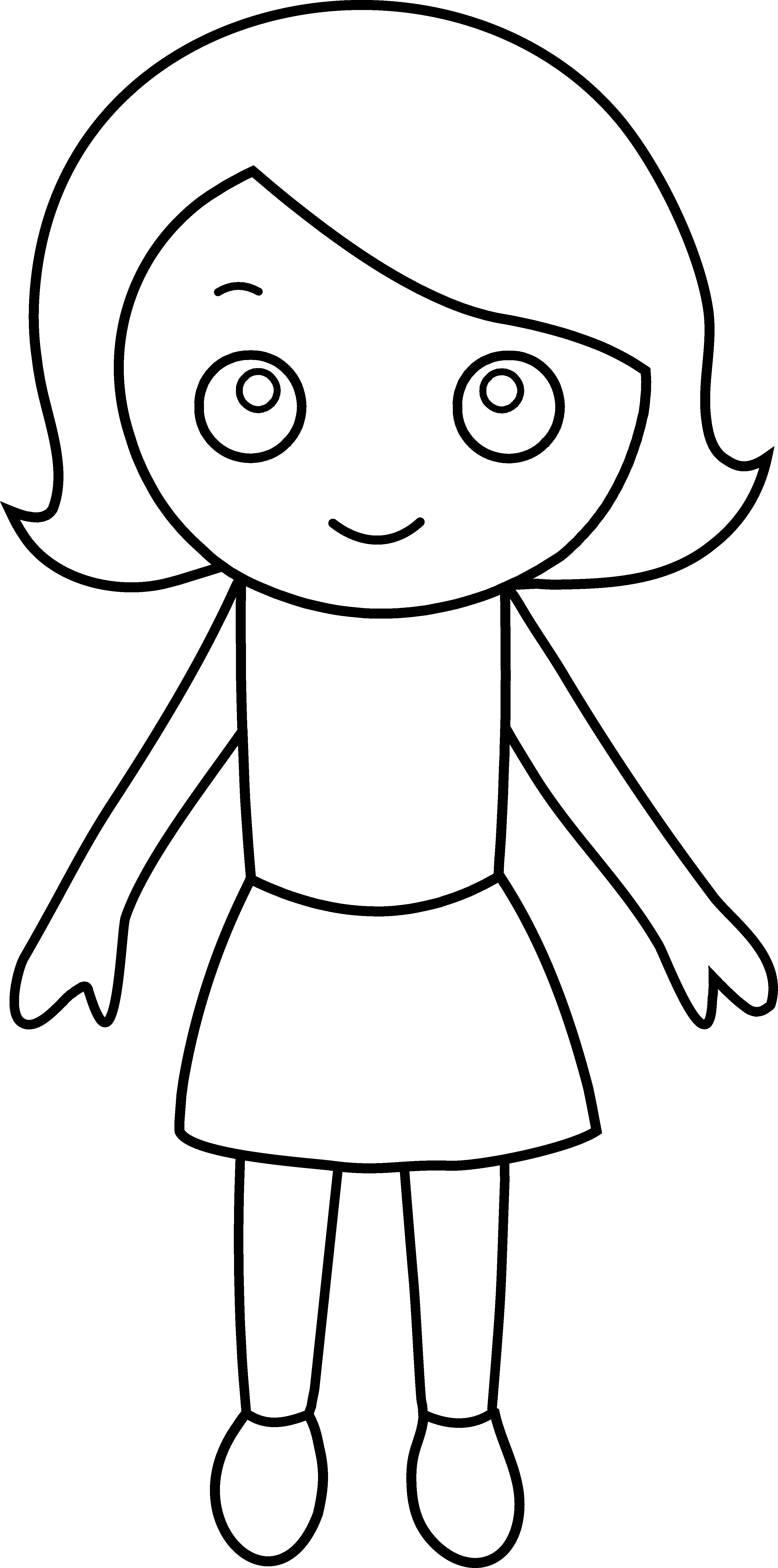 Hula Girl Clipart Little Girl Coloring 20 Free Cliparts