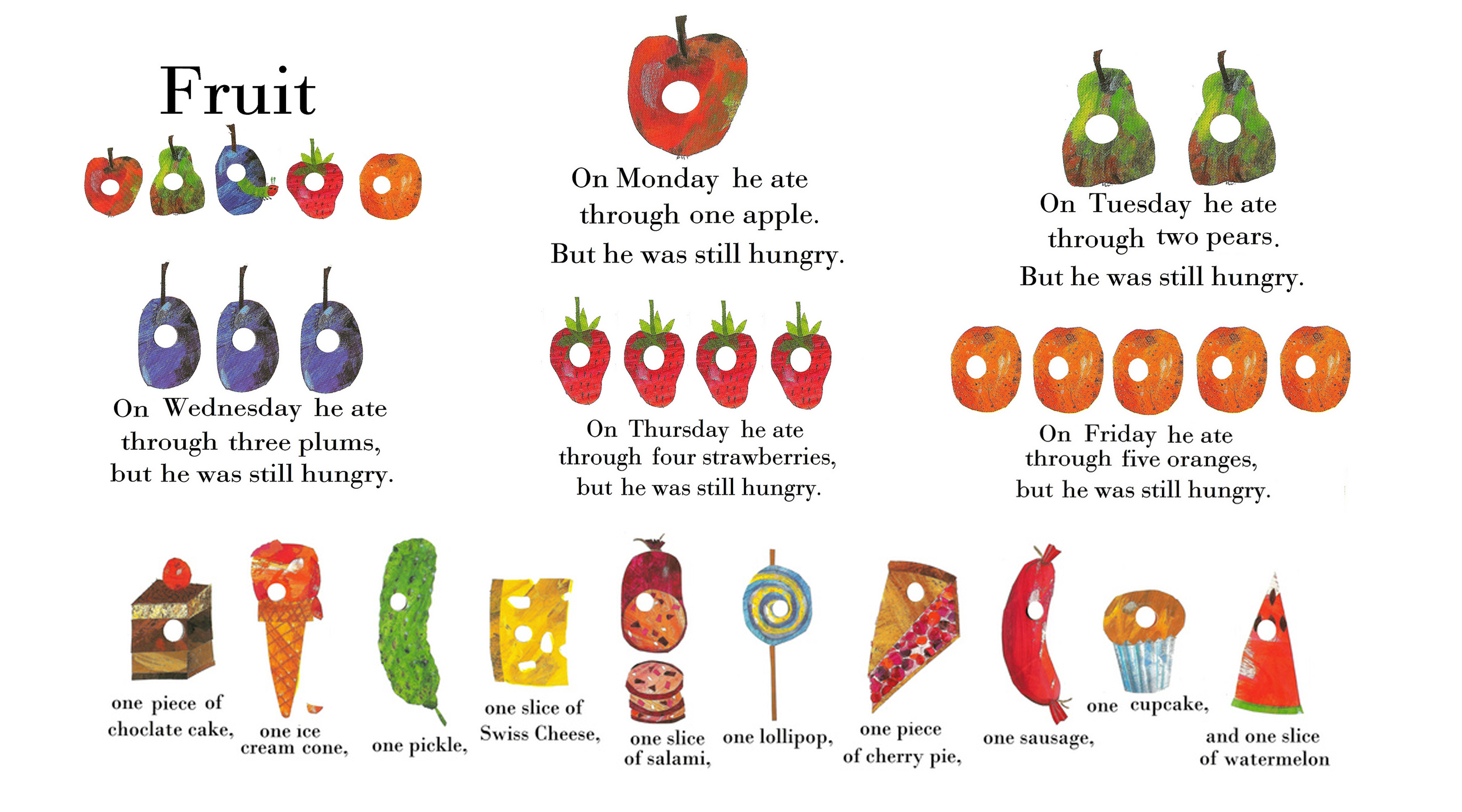 Hungry Caterpillar Food Clipart 20 Free Cliparts