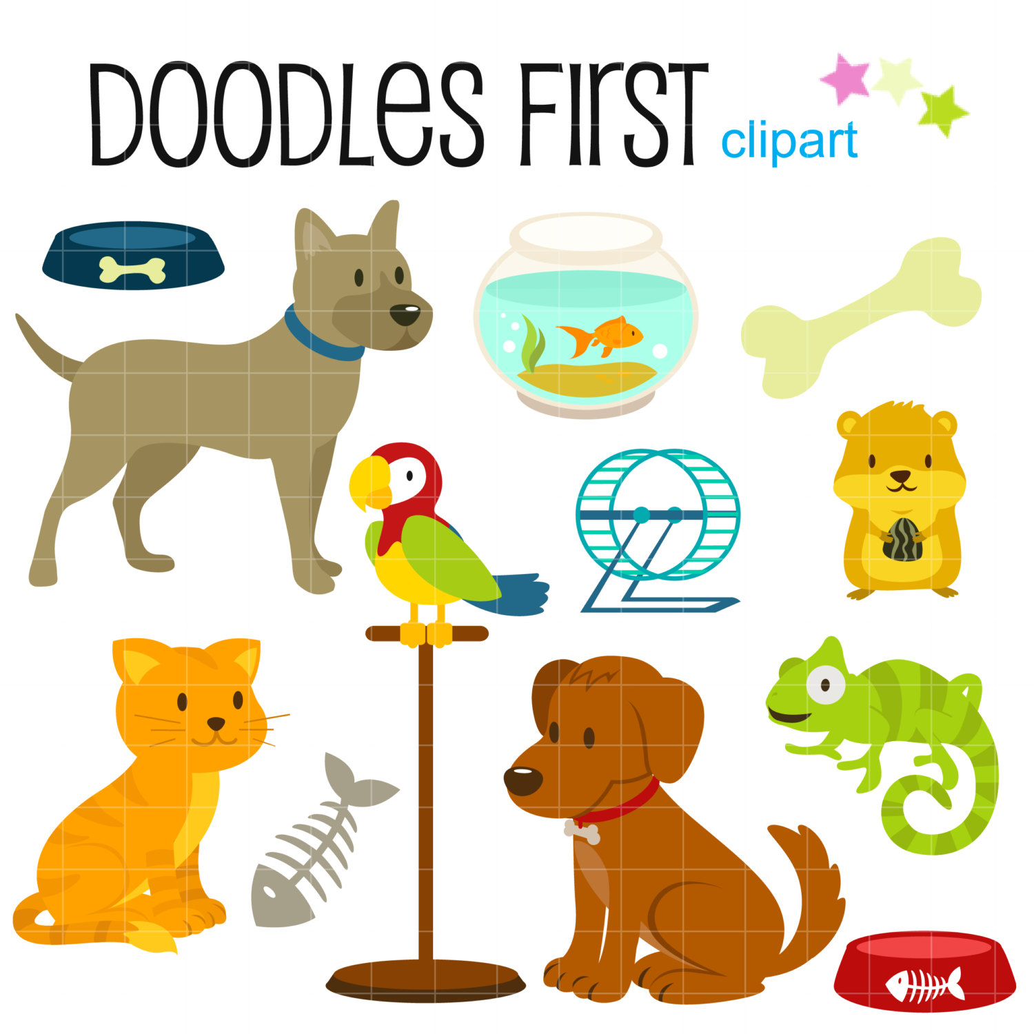 Small Pets Clipart