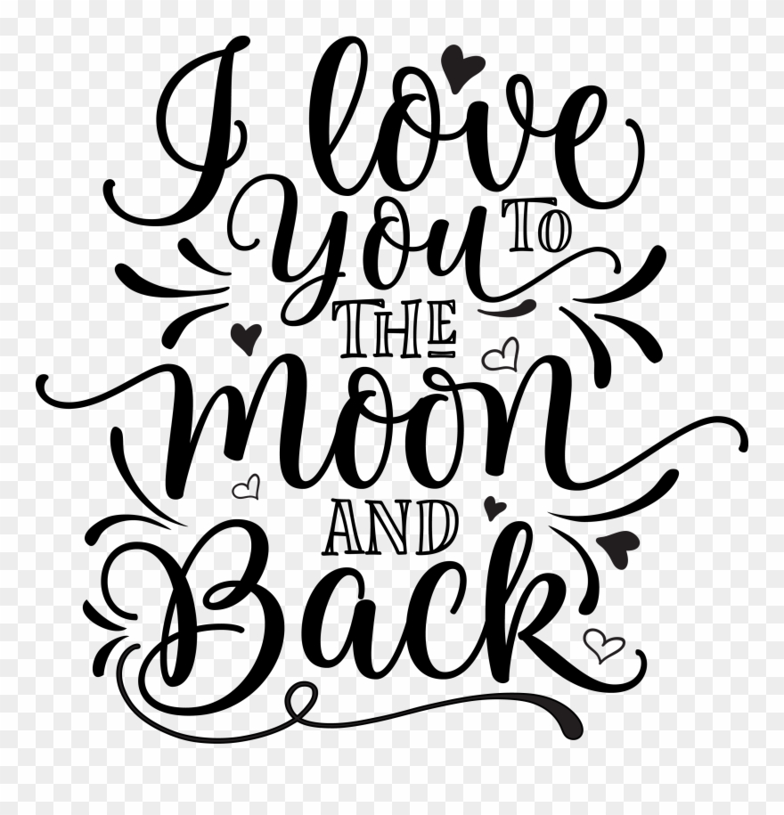 Download i love you to the moon and back clipart 10 free Cliparts ...