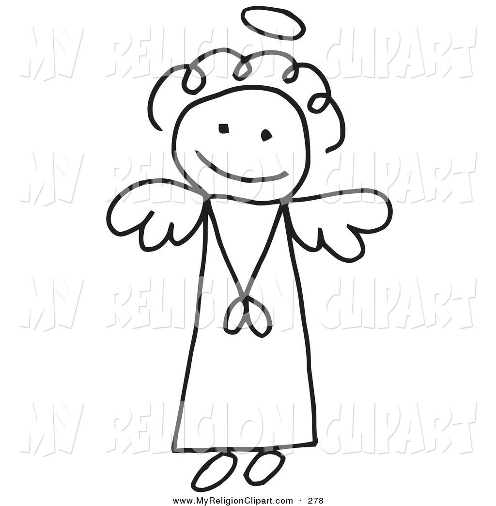 Angel Stick Figure Clip Art