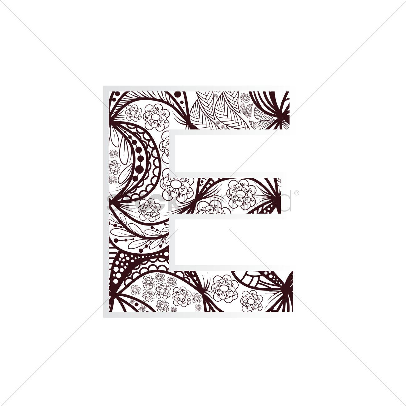 Intricate Alphabet Clipart E Clipground