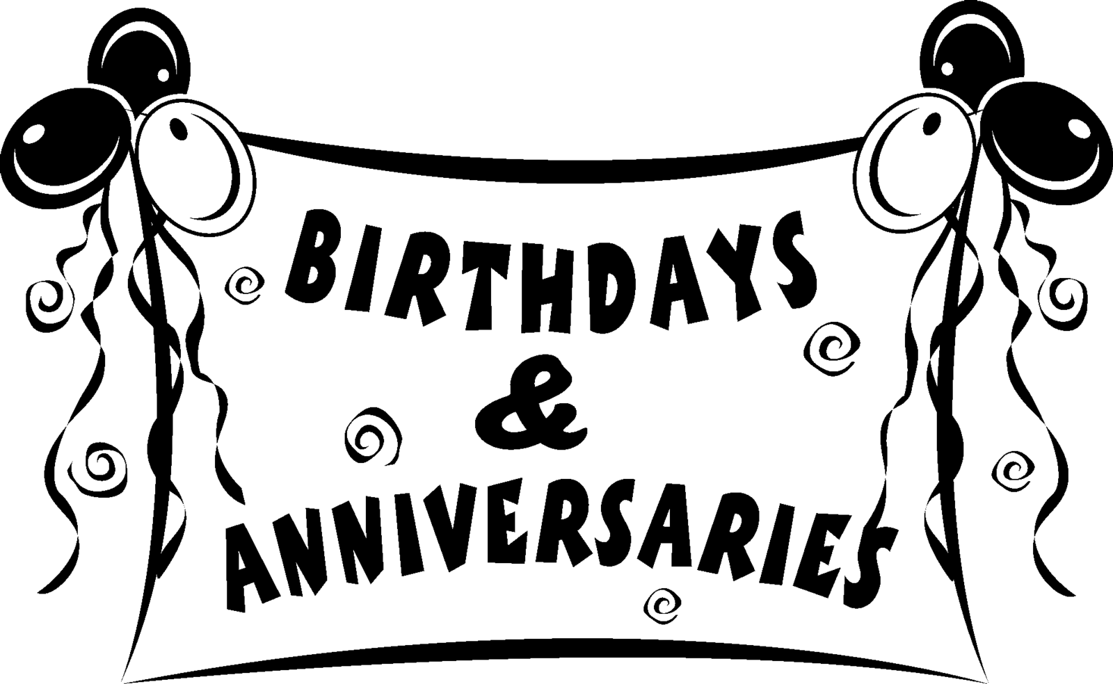 January Anniversaries Clipart