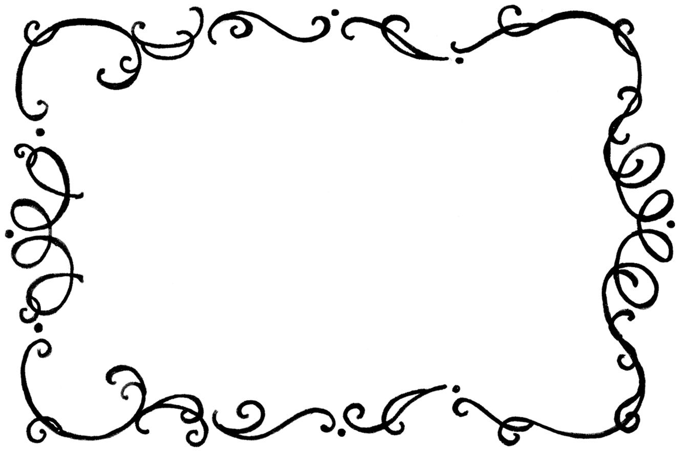 January Border And Frame Clipart