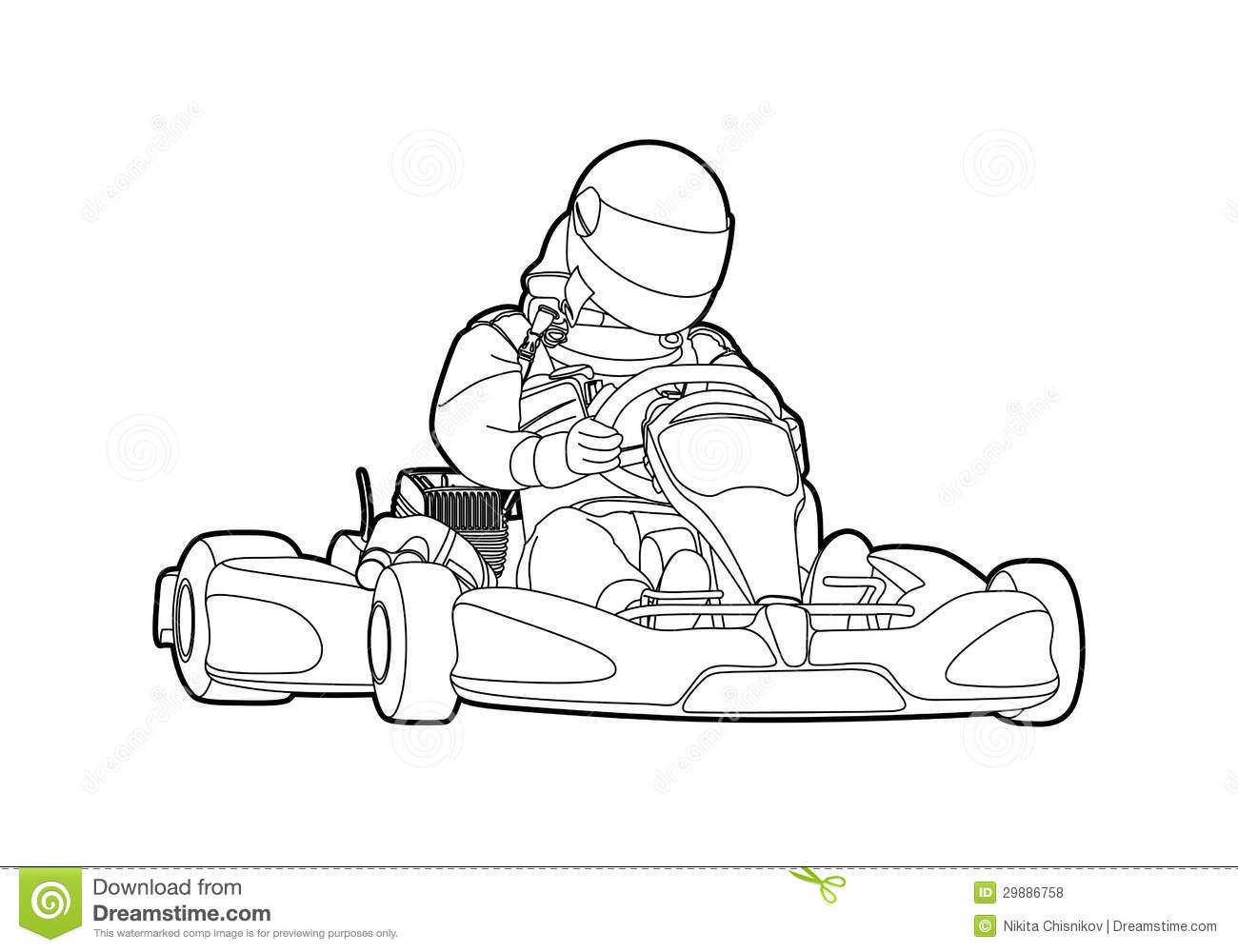 Kart Racing Clipart