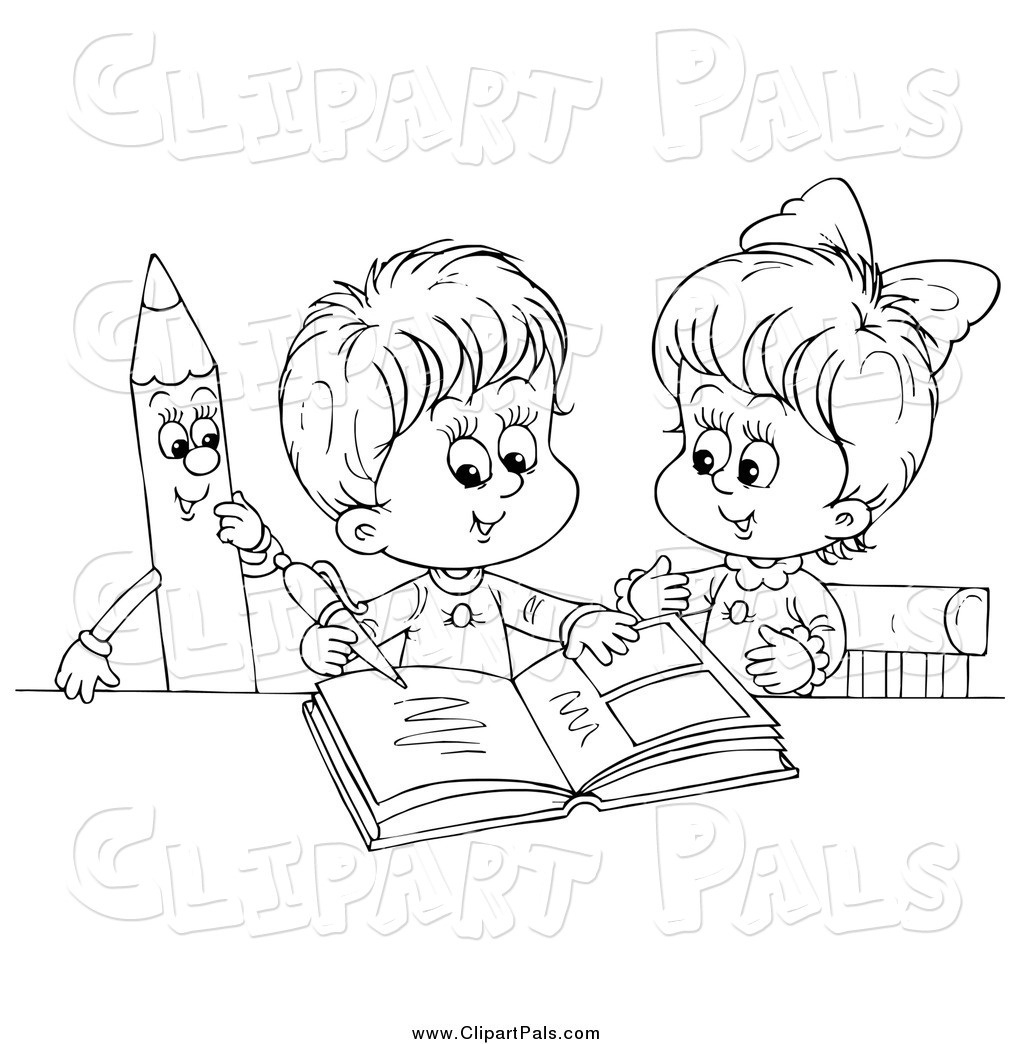 Kid Writing Clipart Black And White 10 Free Cliparts
