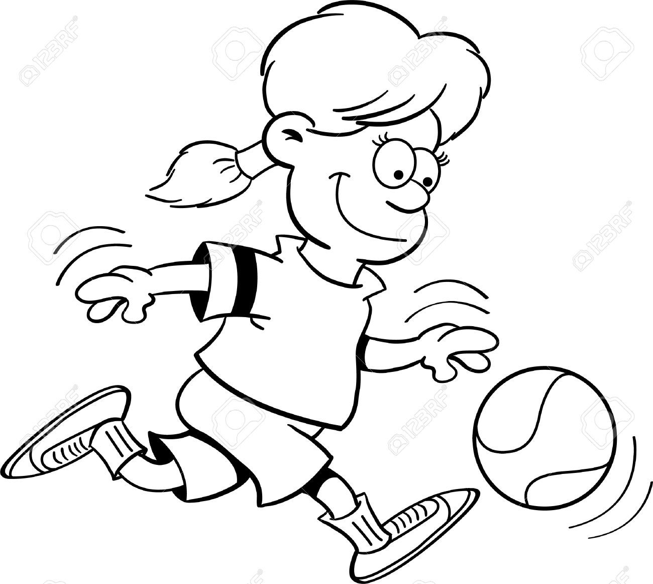 Kids Playing Basketball Black And White Clipart 20 Free