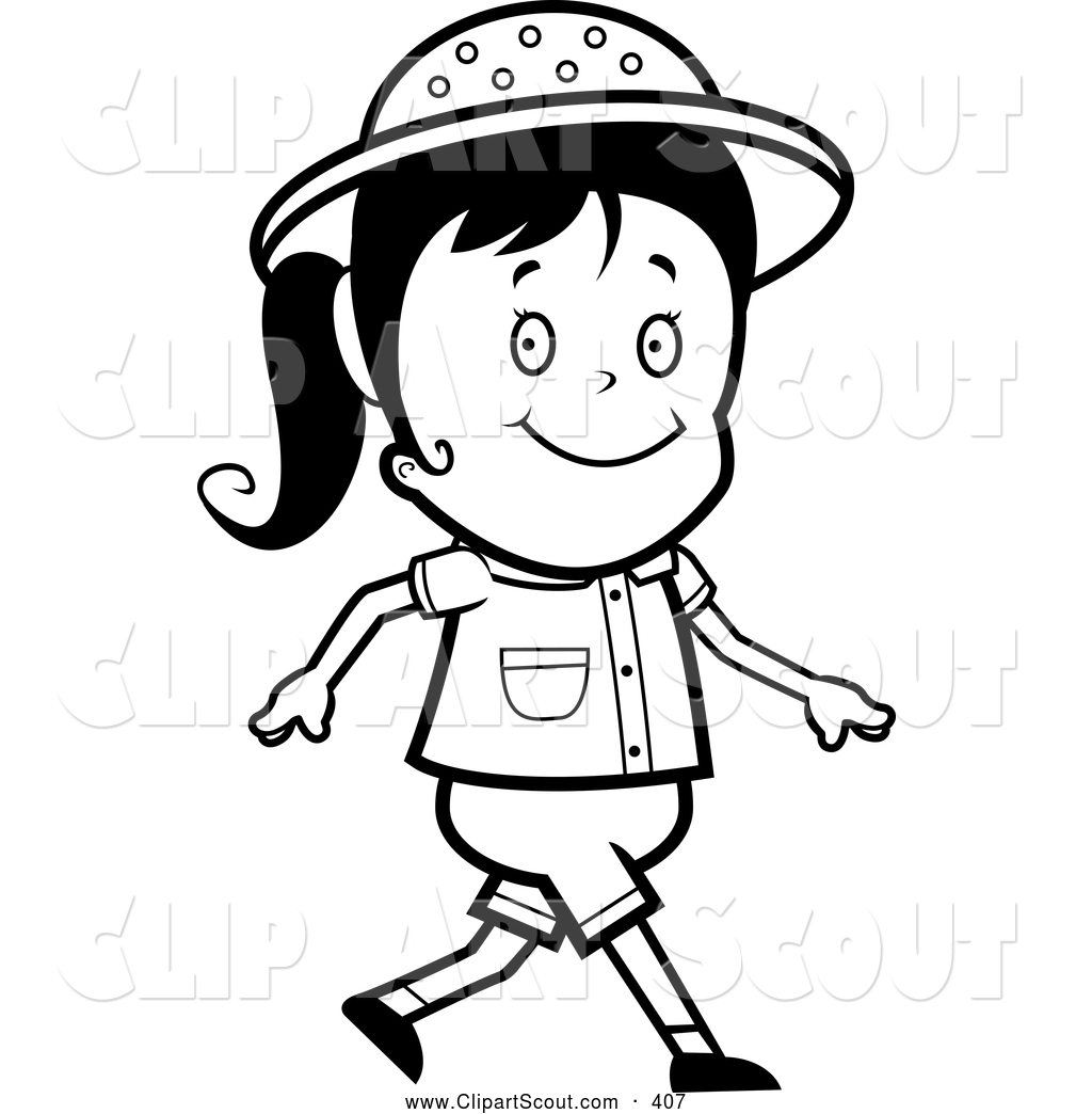 Kids Walking Clipart Black And White 20 Free Cliparts