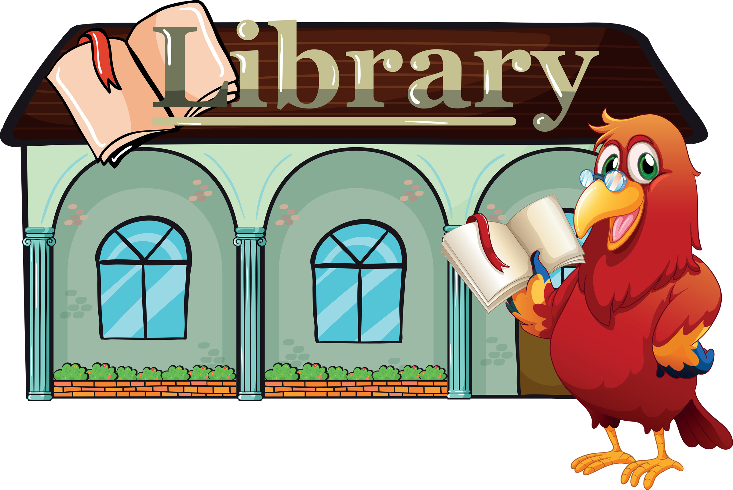 Library building clipart Clipground