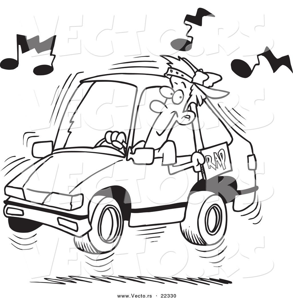 Loud Car Radio Clipart