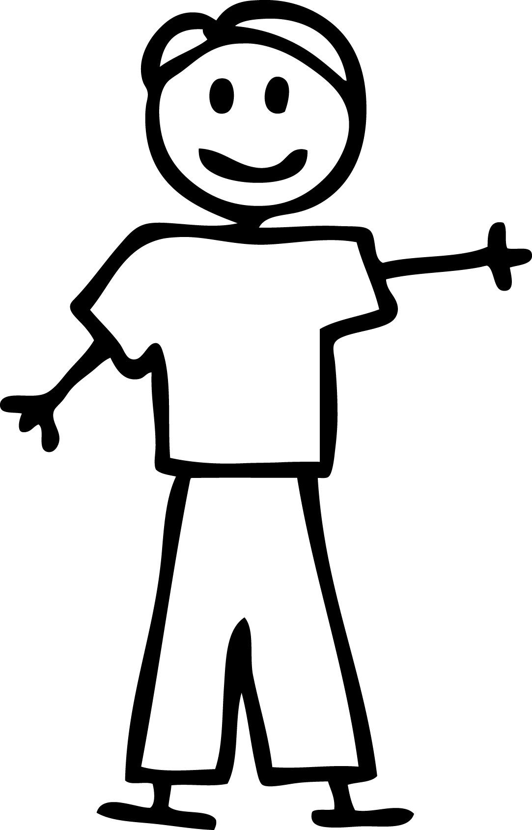 Stick People Dad Clipart Black And White 20 Free Cliparts