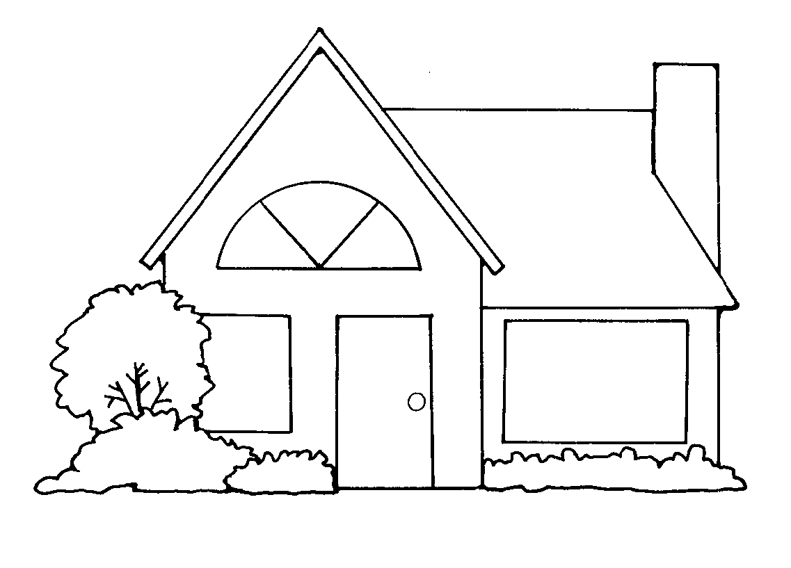 Mansion Clipart Black And White