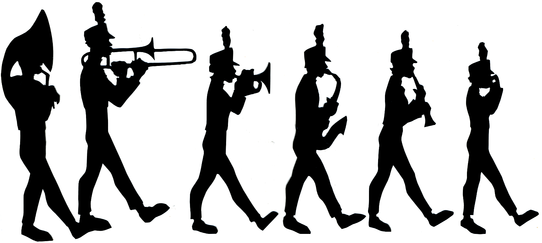 Jazz Band Clipart Free Silhouette