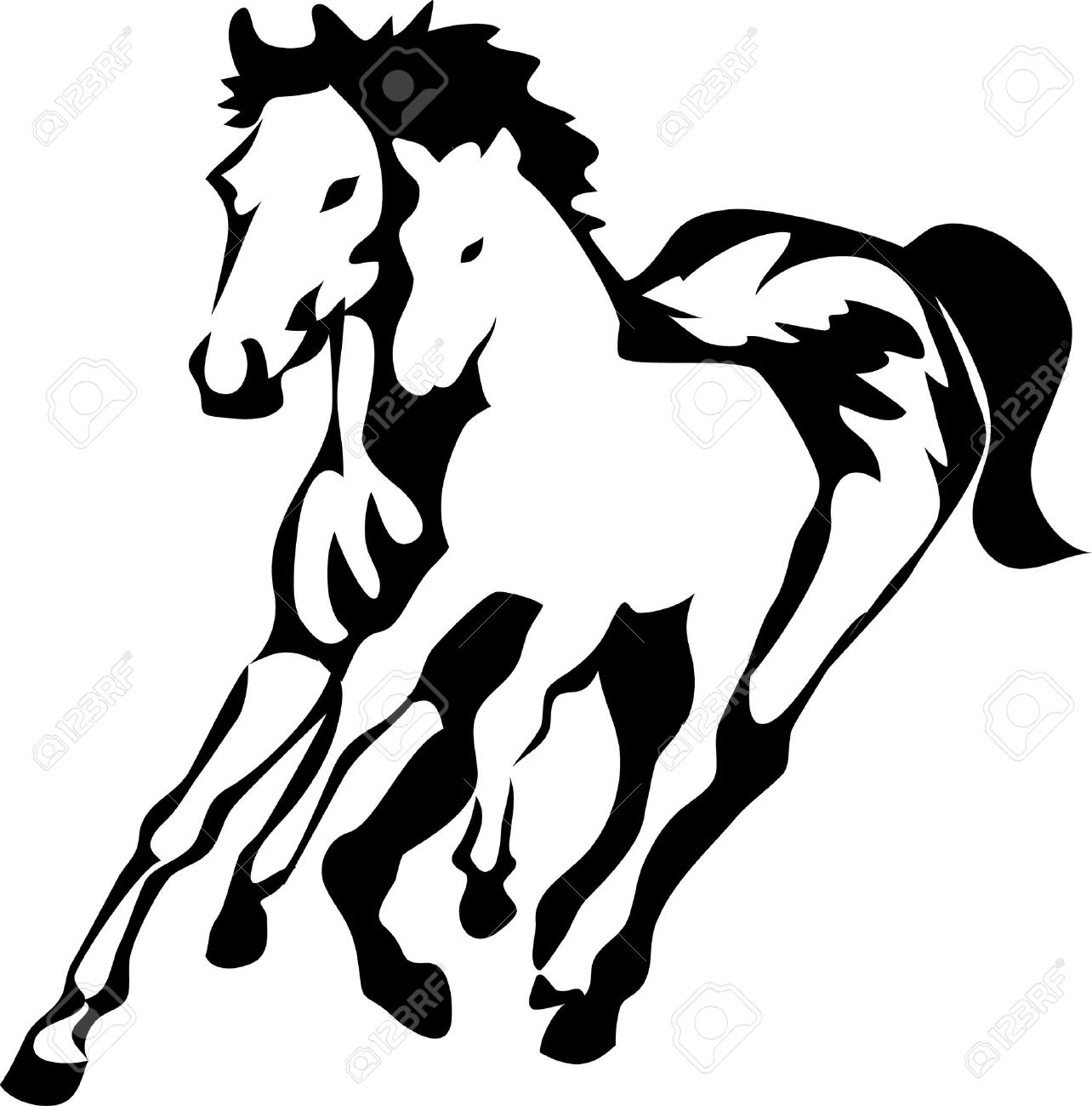 Mare And Foal Clipart 20 Free Cliparts