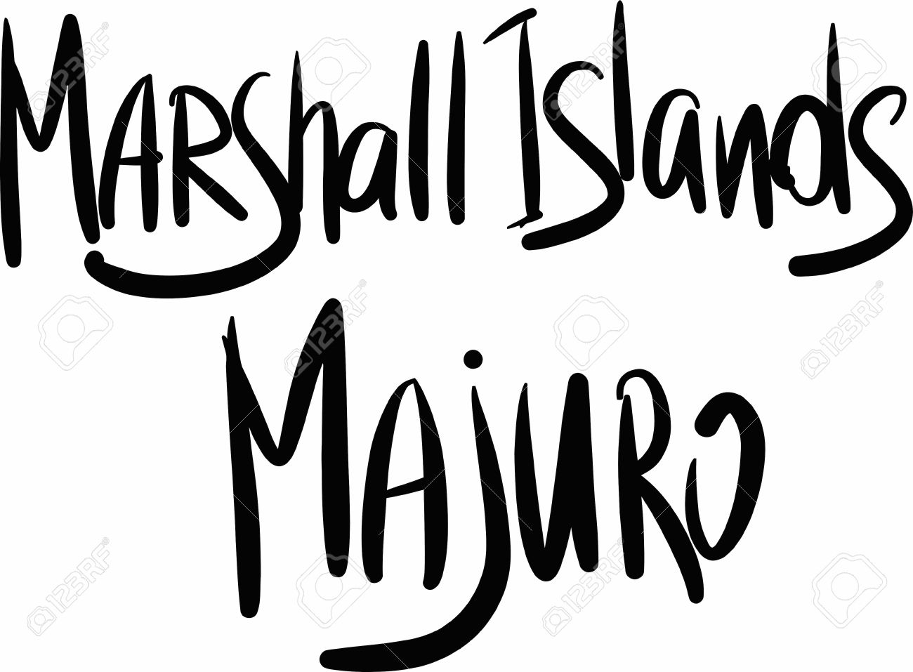 Marshall Islands Black And White Clipart