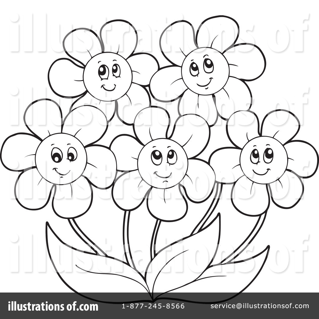 May Flowers Clipart Black And White 10 Free Cliparts