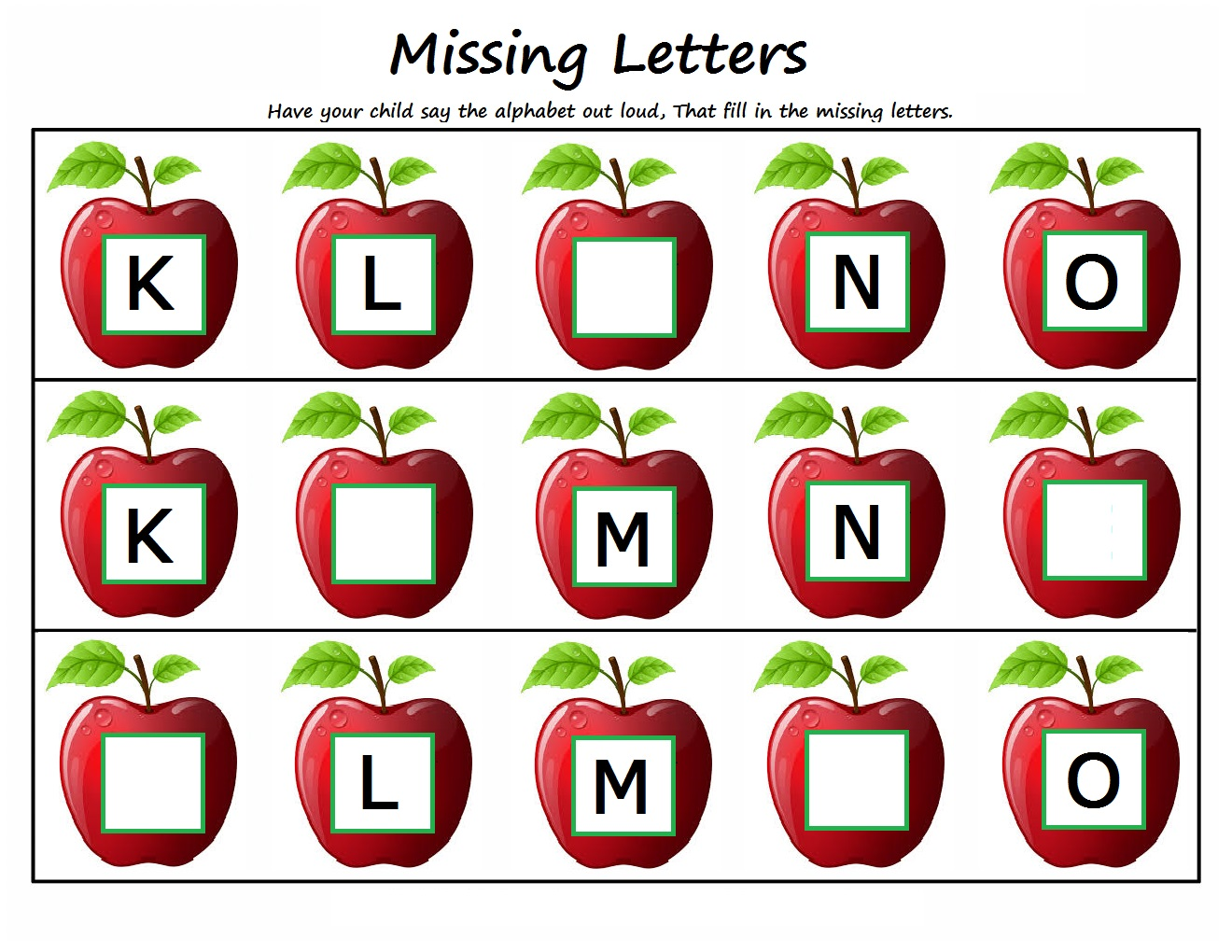 Missing Letter Clipart