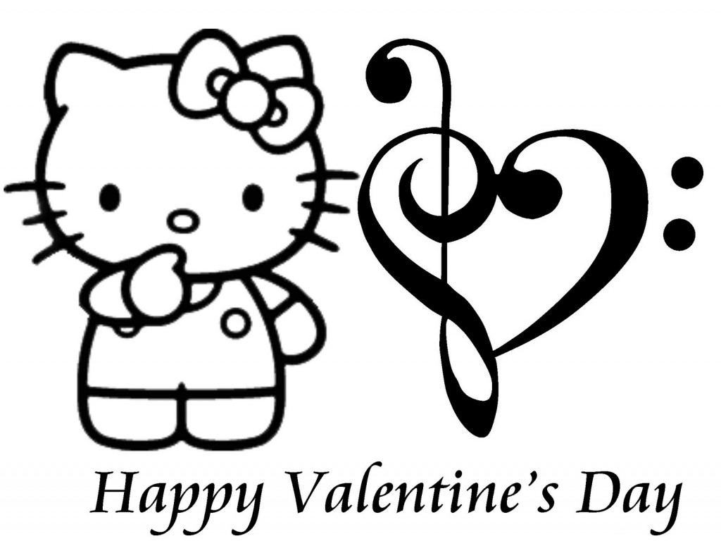 Valentines Day Cross Clipart Black And White
