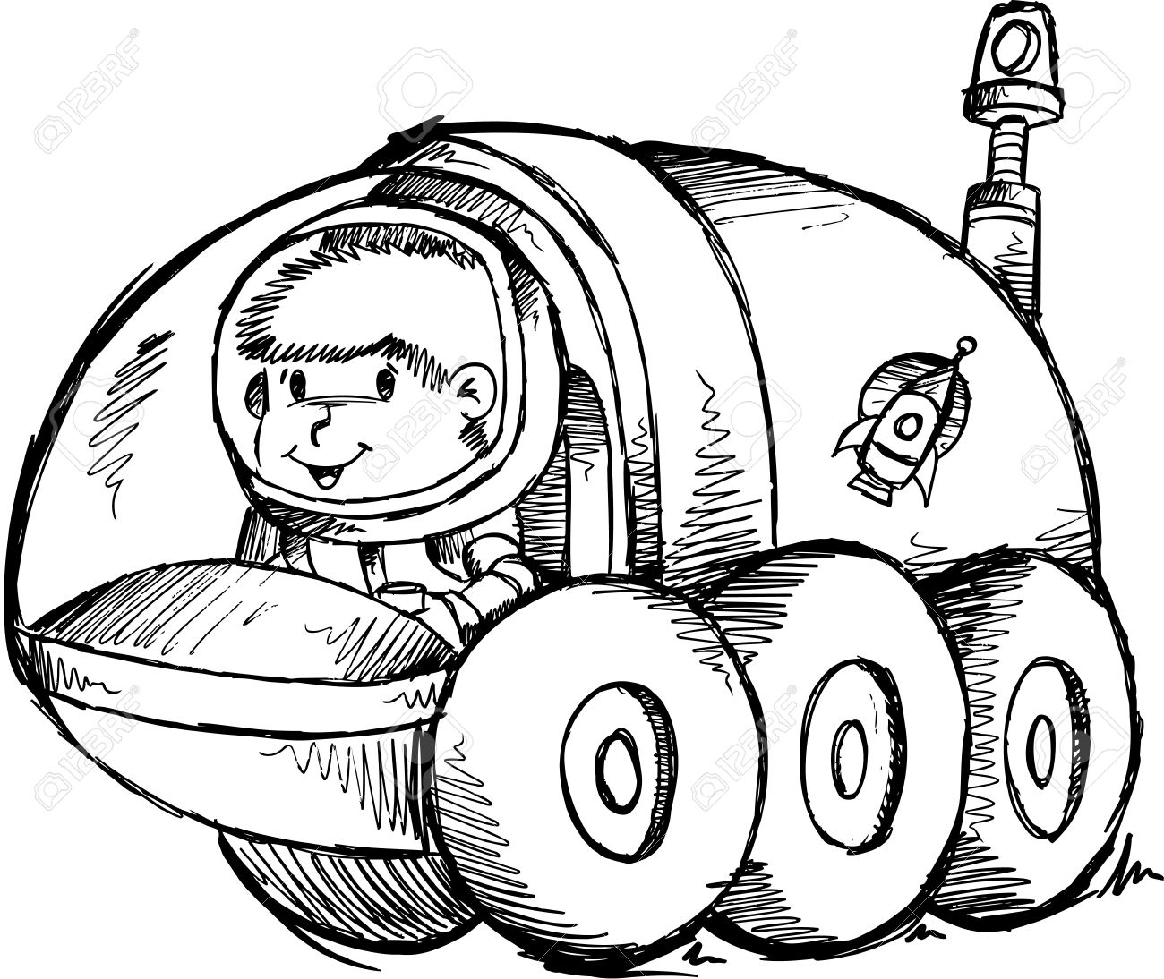 Moonbuggy Clipart