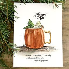 Moscow Mule Watter Color Clipart Clipground