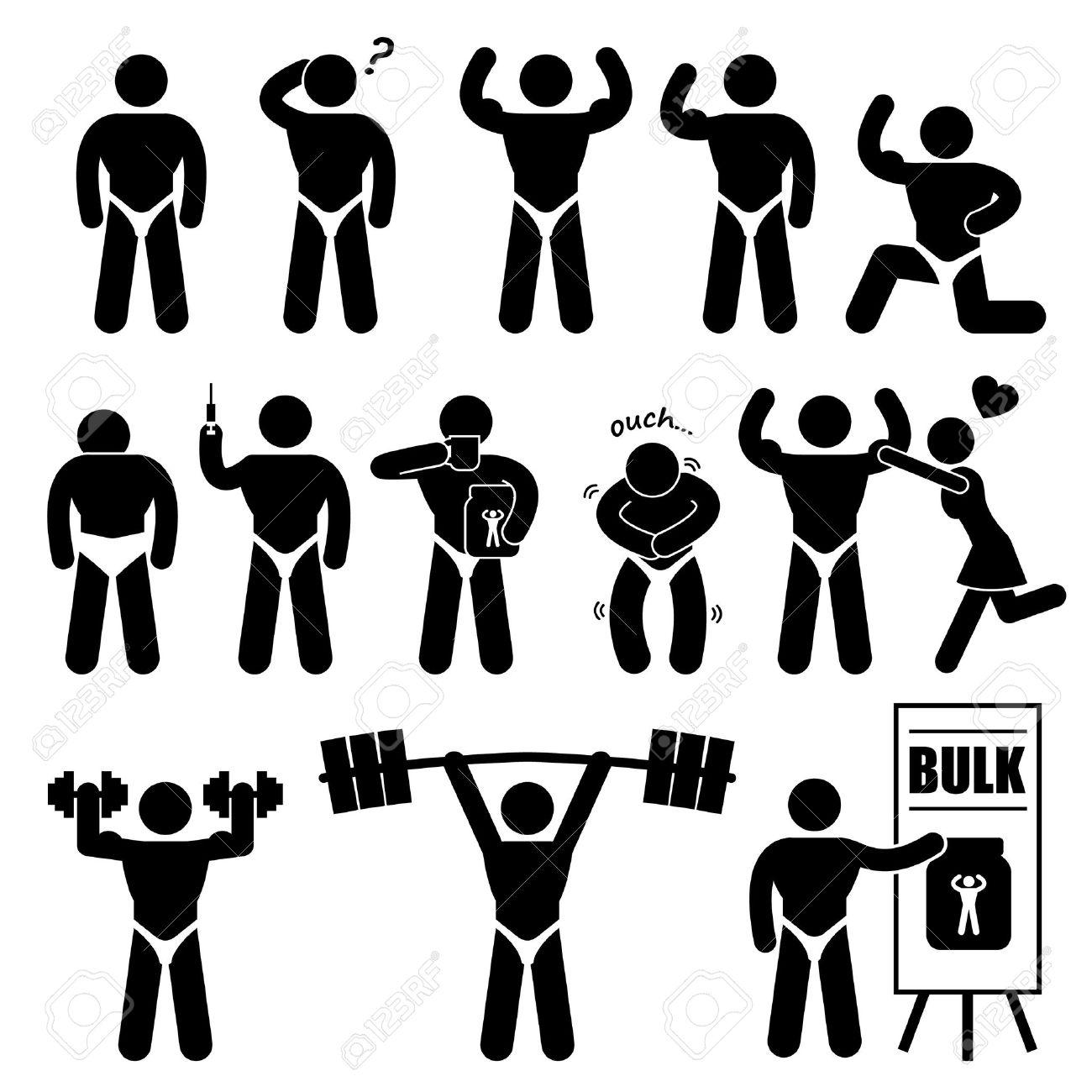 Musculalr Man Workout Clipart