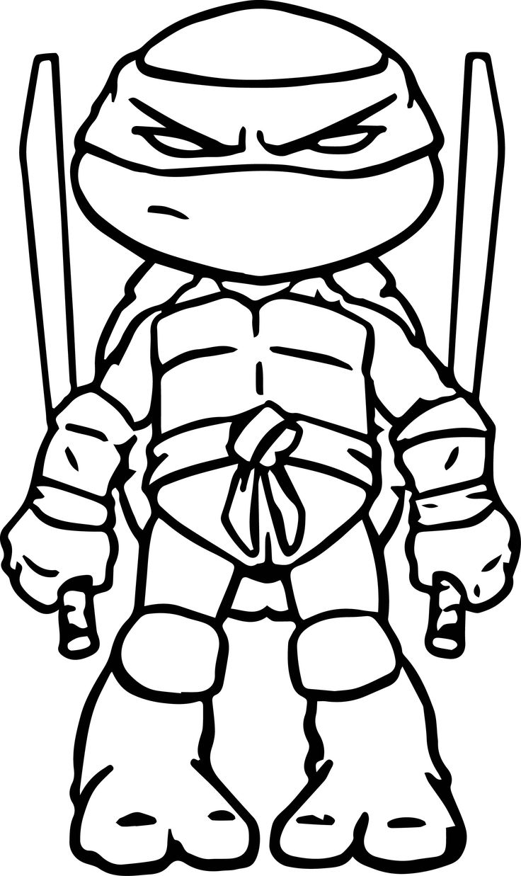 Ninja Turtles Black And White Clipart Clipground